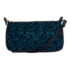 Blue Coral Pattern Shoulder Clutch Bags by Valentinaart