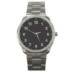 Gray Elegant Texture Sport Metal Watch by Valentinaart