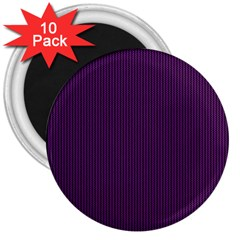 Purple Texture 3  Magnets (10 Pack)  by Valentinaart