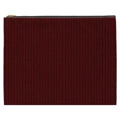 Red Texture Cosmetic Bag (xxxl)  by Valentinaart