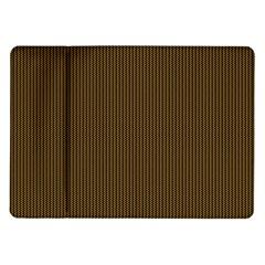 Gold Texture Samsung Galaxy Tab 10 1  P7500 Flip Case by Valentinaart