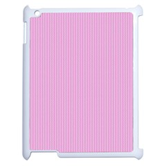Pink Texture Apple Ipad 2 Case (white) by Valentinaart