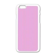 Pink Texture Apple Iphone 6/6s White Enamel Case by Valentinaart