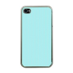 Light Blue Texture Apple Iphone 4 Case (clear) by Valentinaart