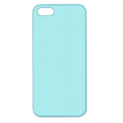 Light Blue Texture Apple Seamless Iphone 5 Case (color) by Valentinaart