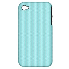 Light Blue Texture Apple Iphone 4/4s Hardshell Case (pc+silicone) by Valentinaart