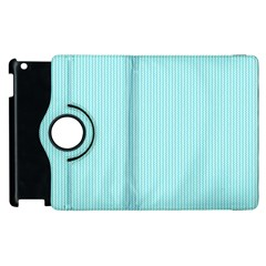 Light Blue Texture Apple Ipad 2 Flip 360 Case by Valentinaart