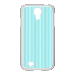 Light Blue Texture Samsung Galaxy S4 I9500/ I9505 Case (white) by Valentinaart