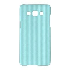 Light Blue Texture Samsung Galaxy A5 Hardshell Case  by Valentinaart