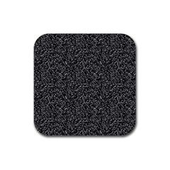 Black Elegant Texture Rubber Square Coaster (4 Pack)  by Valentinaart