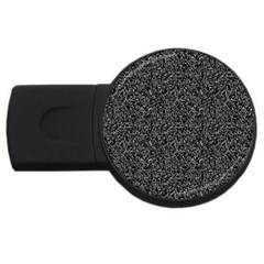 Black Elegant Texture Usb Flash Drive Round (2 Gb) by Valentinaart