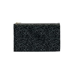 Black Elegant Texture Cosmetic Bag (small)  by Valentinaart