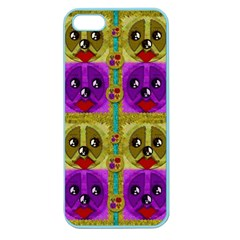 Peace Dogs Apple Seamless Iphone 5 Case (color) by pepitasart