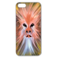 Monster Ghost Horror Face Apple Seamless Iphone 5 Case (clear) by Nexatart