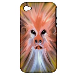 Monster Ghost Horror Face Apple Iphone 4/4s Hardshell Case (pc+silicone) by Nexatart