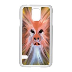 Monster Ghost Horror Face Samsung Galaxy S5 Case (white)