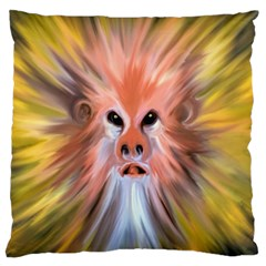 Monster Ghost Horror Face Large Flano Cushion Case (two Sides) by Nexatart