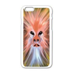 Monster Ghost Horror Face Apple Iphone 6/6s White Enamel Case by Nexatart