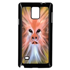 Monster Ghost Horror Face Samsung Galaxy Note 4 Case (black) by Nexatart