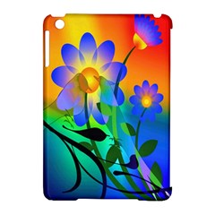 Abstract Flowers Bird Artwork Apple Ipad Mini Hardshell Case (compatible With Smart Cover)
