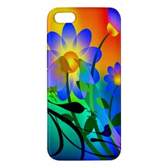 Abstract Flowers Bird Artwork Iphone 5s/ Se Premium Hardshell Case
