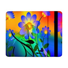 Abstract Flowers Bird Artwork Samsung Galaxy Tab Pro 8 4  Flip Case