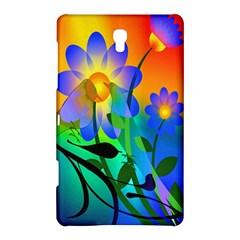 Abstract Flowers Bird Artwork Samsung Galaxy Tab S (8.4 ) Hardshell Case  by Nexatart