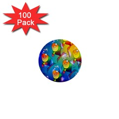 Fish Pattern 1  Mini Buttons (100 Pack)