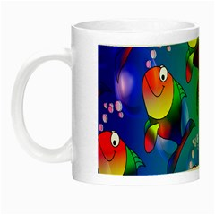 Fish Pattern Night Luminous Mugs by Nexatart
