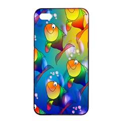 Fish Pattern Apple Iphone 4/4s Seamless Case (black)