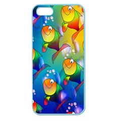 Fish Pattern Apple Seamless Iphone 5 Case (color)