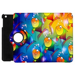 Fish Pattern Apple iPad Mini Flip 360 Case by Nexatart