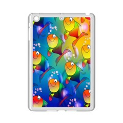 Fish Pattern Ipad Mini 2 Enamel Coated Cases by Nexatart