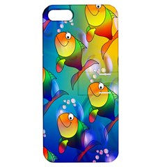 Fish Pattern Apple Iphone 5 Hardshell Case With Stand