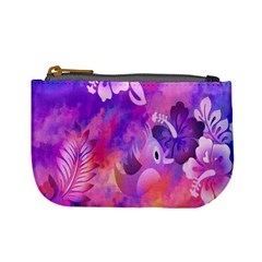 Abstract Flowers Bird Artwork Mini Coin Purses