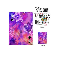 Abstract Flowers Bird Artwork Playing Cards 54 (mini)  by Nexatart
