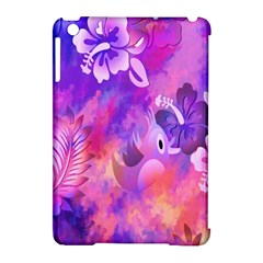 Abstract Flowers Bird Artwork Apple Ipad Mini Hardshell Case (compatible With Smart Cover) by Nexatart