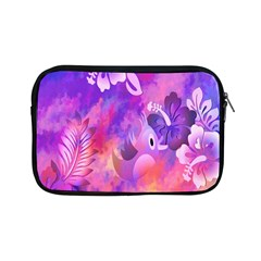 Abstract Flowers Bird Artwork Apple iPad Mini Zipper Cases by Nexatart