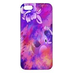 Abstract Flowers Bird Artwork Iphone 5s/ Se Premium Hardshell Case