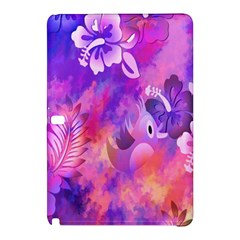 Abstract Flowers Bird Artwork Samsung Galaxy Tab Pro 10 1 Hardshell Case by Nexatart