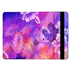 Abstract Flowers Bird Artwork Samsung Galaxy Tab Pro 12 2  Flip Case
