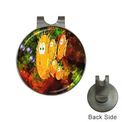 Abstract Fish Artwork Digital Art Hat Clips With Golf Markers by Nexatart