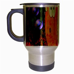 Abstract Fish Artwork Digital Art Travel Mug (silver Gray)