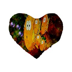 Abstract Fish Artwork Digital Art Standard 16  Premium Flano Heart Shape Cushions