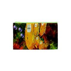 Abstract Fish Artwork Digital Art Cosmetic Bag (xs) by Nexatart