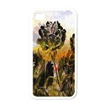 Abstract Digital Art Apple iPhone 4 Case (White) Front