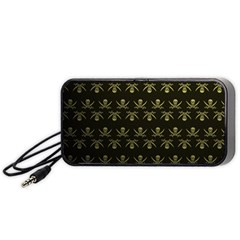 Abstract Skulls Death Pattern Portable Speaker (black)