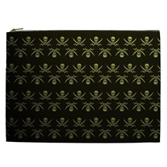 Abstract Skulls Death Pattern Cosmetic Bag (xxl)  by Nexatart