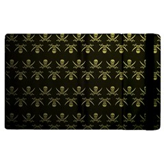 Abstract Skulls Death Pattern Apple Ipad 3/4 Flip Case