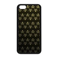 Abstract Skulls Death Pattern Apple Iphone 5c Seamless Case (black)